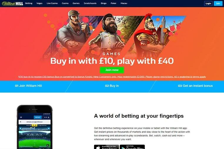 WILLIAM HILL PROMO CODES: TOP-NOTCH REVIEW & PICKS FOR 2020