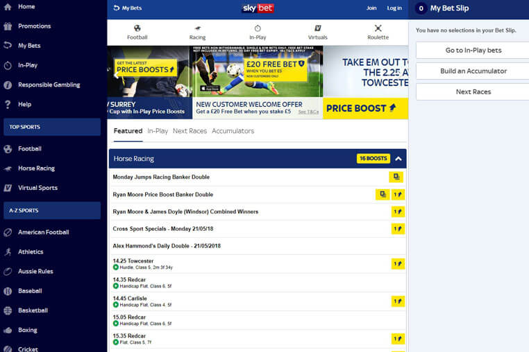 Sky Bet Bonus Codes